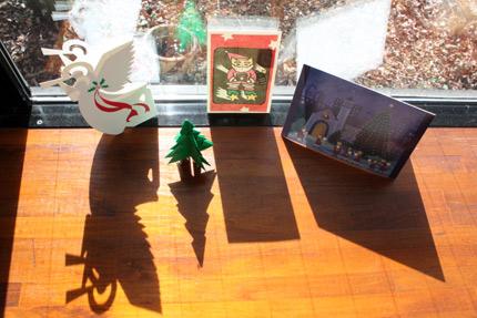 クリスマス・カード. ぬくもりあふれるメッセージを有り難うございます