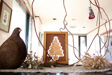 CRAFT BAN 製のツリーその2 古い箪笥の上の室礼