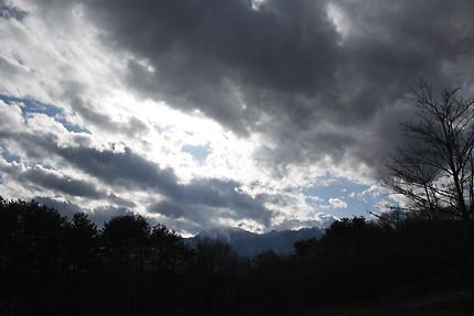正月三日 午後の空