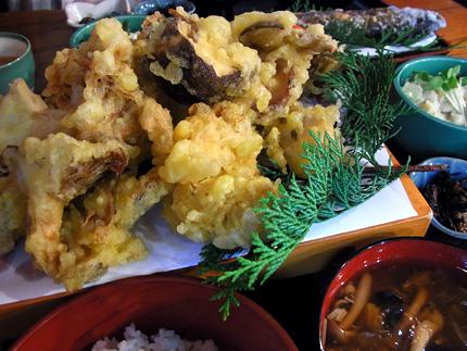きのこの天ぷら定食