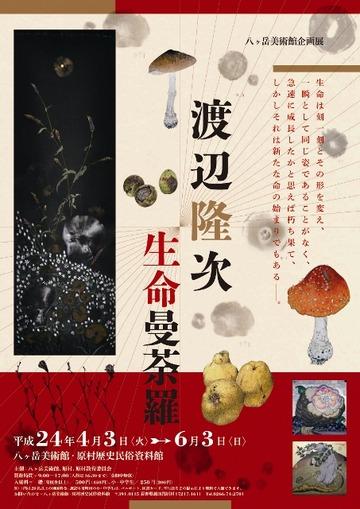 『渡辺隆次 生命曼荼羅』展チラシ