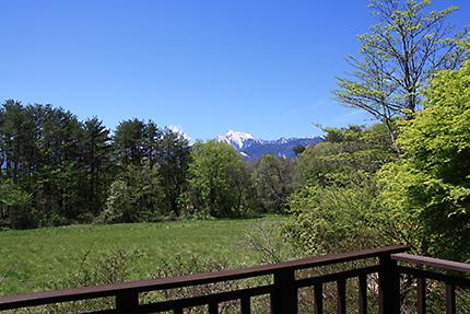 甲斐駒ヶ岳と青空 清々しい!