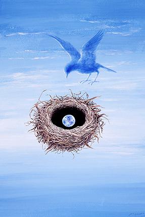 『Blue Sky』 鈴木まもる 水彩 2003年