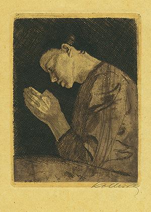 『祈る少女』銅板1892年 ケーテ・コルヴィッツ(1867-1945)