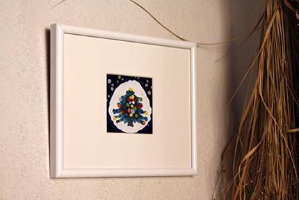 四竈公子による七宝のクリスマスツリー